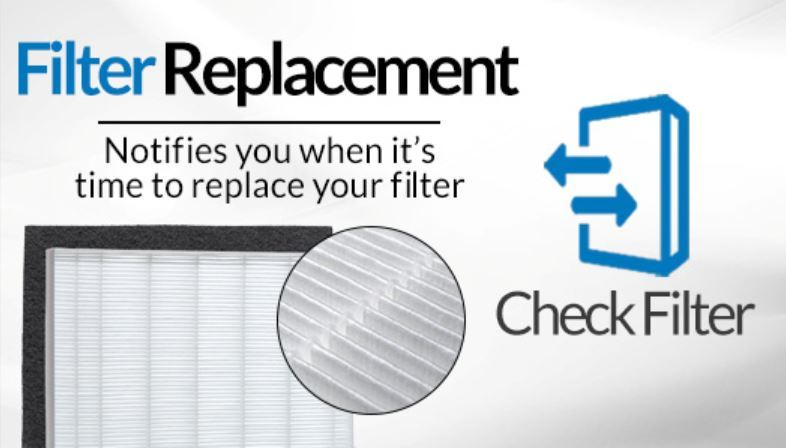 Winix 5300-2 air purifier notifies when it is time to replace your filter